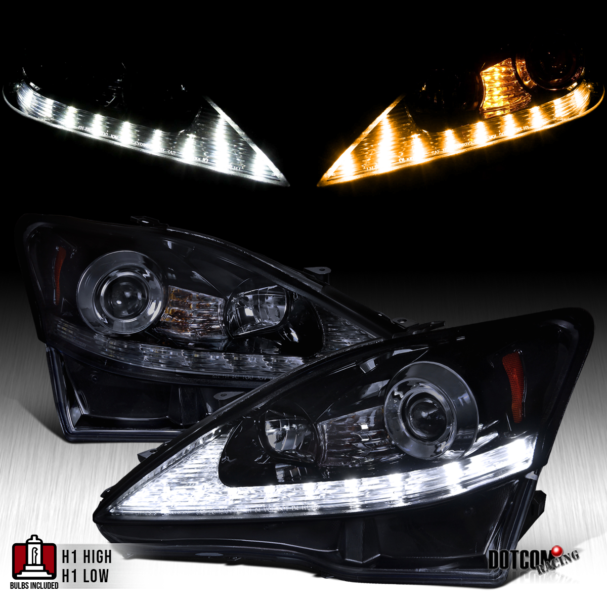 2006 Lexus Is 250 Awd For Sale: 2006-2009 Lexus IS250 Glossy Black LED DRL+Signal Strip