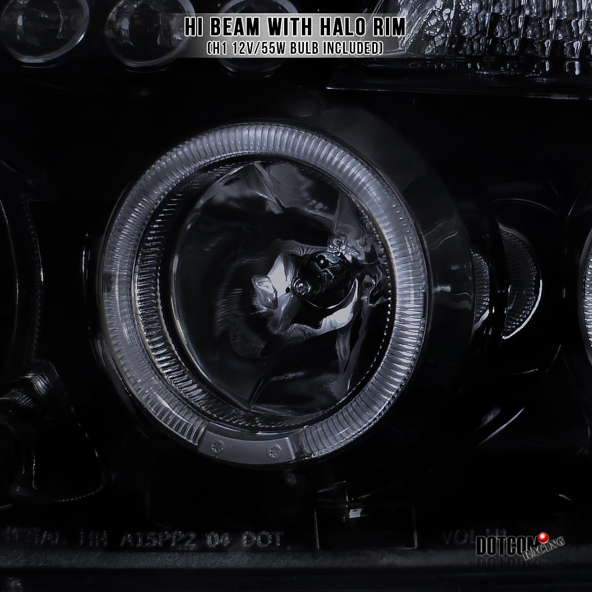 Lens 04 07 Nissan Titan Armada Halo LED Projector Headlights