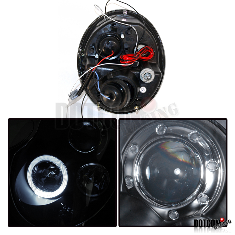 slim hid 2002 2005 mini cooper projector headlights black