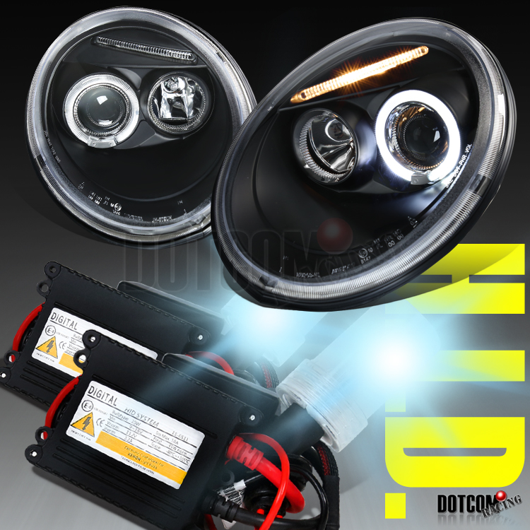1998 Vw Beetle Headlight Wiring Harness : Vw beetle halo black projector headlights h