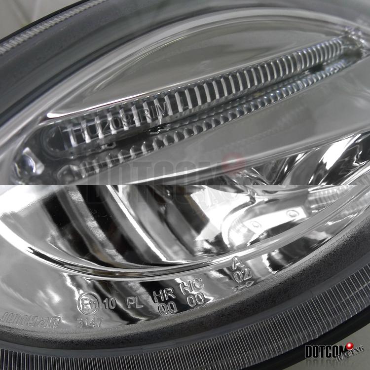 1998 Vw Beetle Headlight Wiring Harness : Vw beetle halo chrome projector headlights h