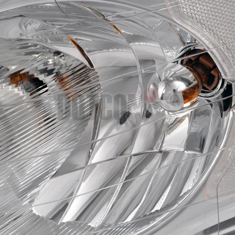 2002 2005 dodge ram 1500 2500 3500 clear headlights chrome. Black Bedroom Furniture Sets. Home Design Ideas