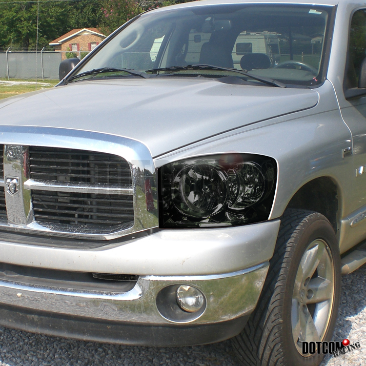 2006 2009 Dodge Ram 1500 Sinister Black 06 08 Ram 2500: Smoke 06-08 Dodge RAM 1500 2500 3500 Euro Headlight W/ LED