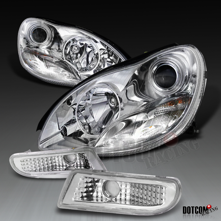 2000 2005 mercedes w220 s430 s500 projector headlights for Mercedes benz s430 headlight replacement