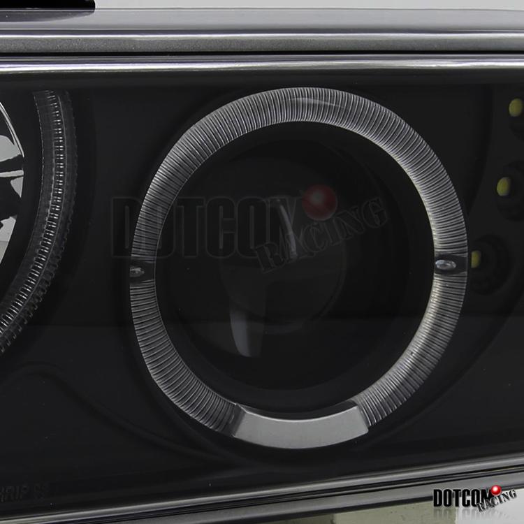 Euro Black 98 04 S10 Blazer Halo Projector Headlights W