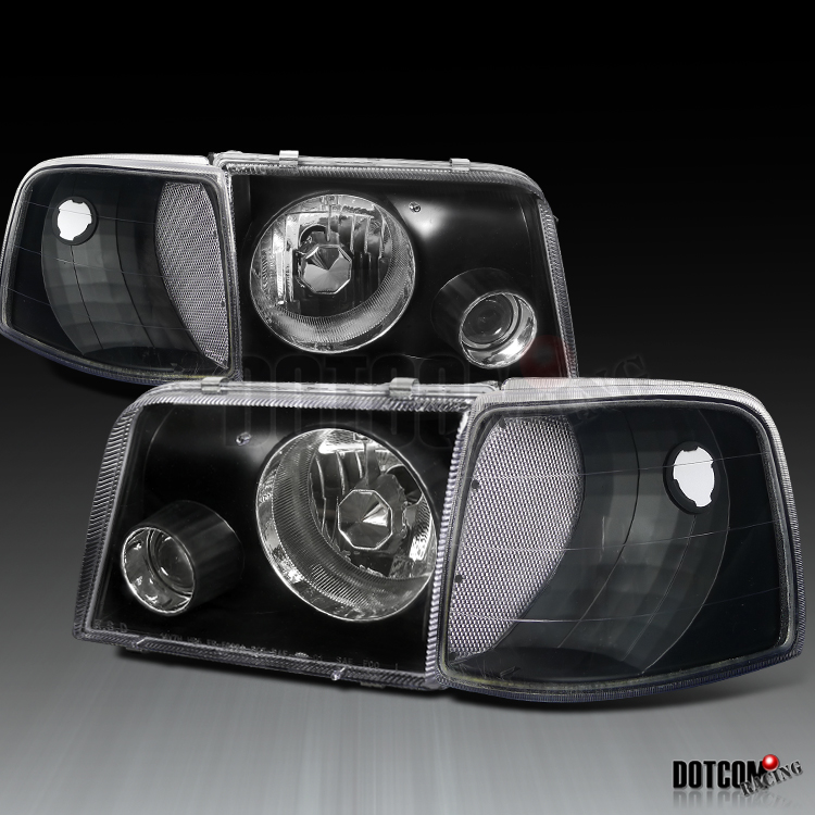Ford Ranger Projector Headlights : Ford ranger euro black projector headlights corner
