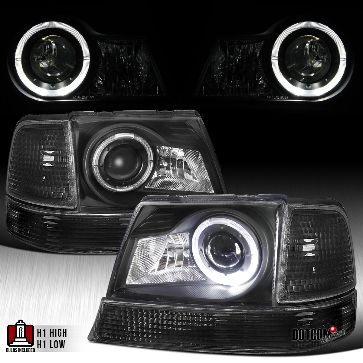 98 Ford Ranger Headlamp : Ford ranger halo projector headlights turn signal
