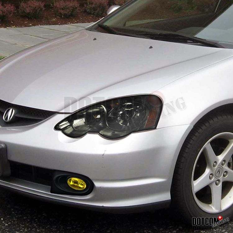 02 04 acura rsx dc5 jdm smoke headlights yellow fog bumper light. Black Bedroom Furniture Sets. Home Design Ideas