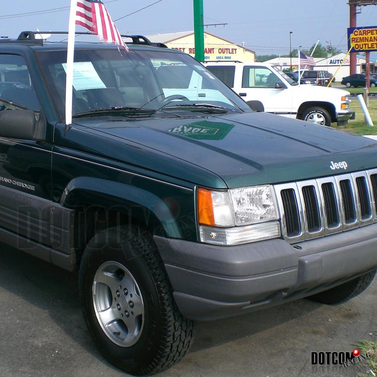 1993 1998 Jeep Grand Cherokee Chrome Diamond Headlights Clear Lamps