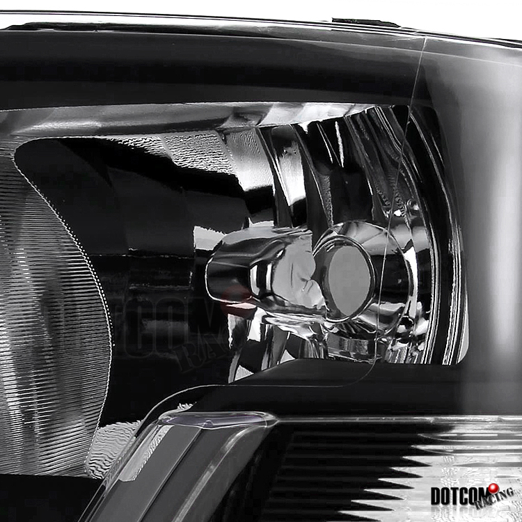 2009 2012 dodge ram 1500 diamond headlights black 2500. Black Bedroom Furniture Sets. Home Design Ideas