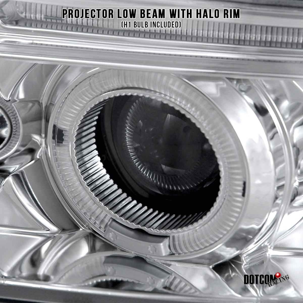 99-01 Audi A4 B5 Dual Halo LED Projector Headlights