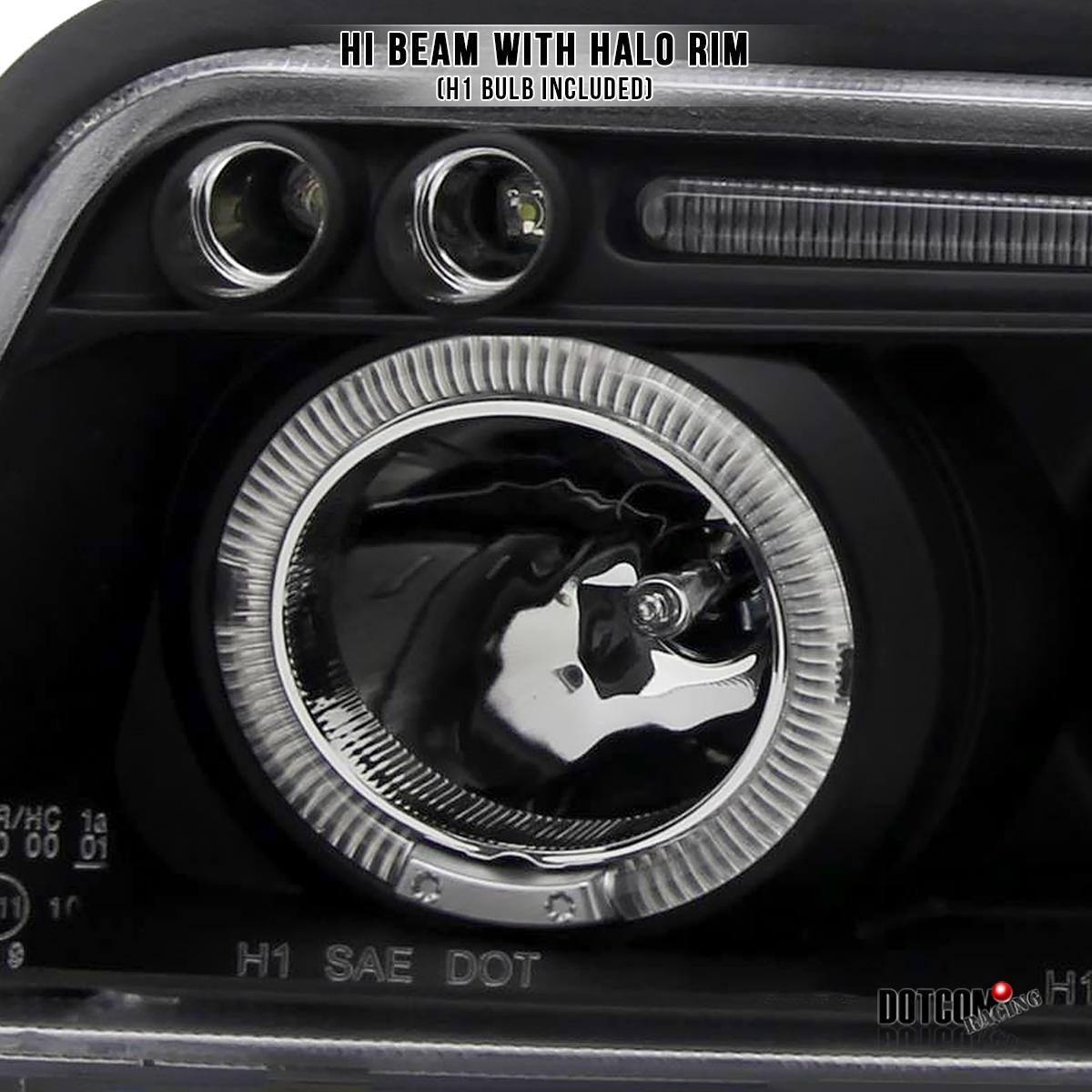1996-1999 Audi A4 Twin Halo Angeleye Head Lights Lamps