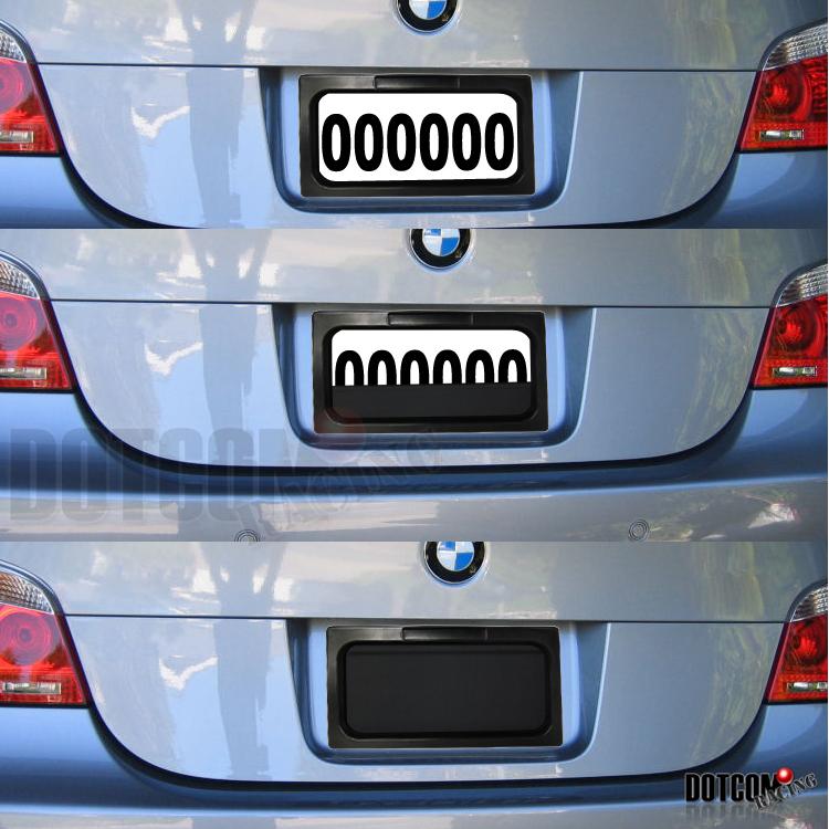 Hidden Car License Plate