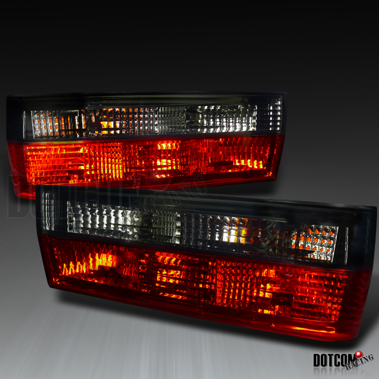 BMW E30 3 Series 325IS 325IC M3 Red Smoke Crystal Tail Lights