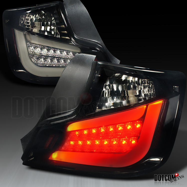 dark smoke 2011 2012 scion tc led glossy black tail lights brake lamps. Black Bedroom Furniture Sets. Home Design Ideas