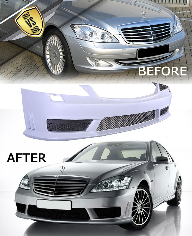 07 13 mercedes s class w221 s65 amg pu body kit s550 s600 for Mercedes benz s600 ebay