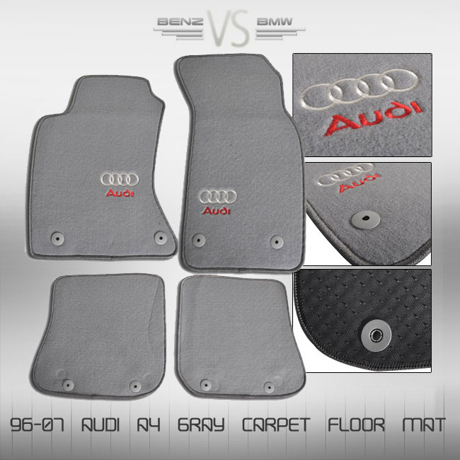 96 97 98 99 00 01 audi a4 gray floor mat carpet brand new. Black Bedroom Furniture Sets. Home Design Ideas
