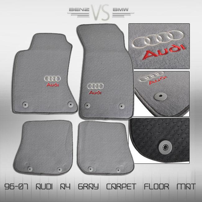 96 97 98 99 00 01 audi a4 gray floor mat carpet brand new. Black Bedroom Furniture Sets. Home Design Ideas