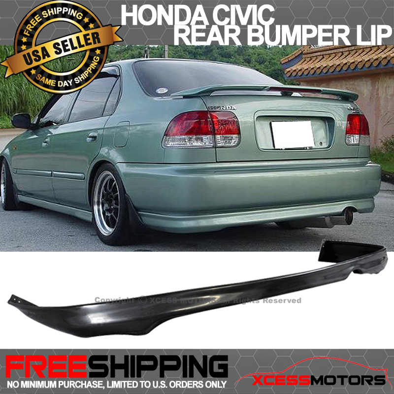 99 00 honda civic 99 00 2 4dr rear bumper lip spoiler. Black Bedroom Furniture Sets. Home Design Ideas