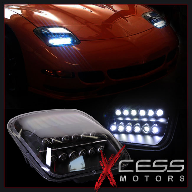 High Power Led 97 04 Chevy Corvette C5 Black Housing