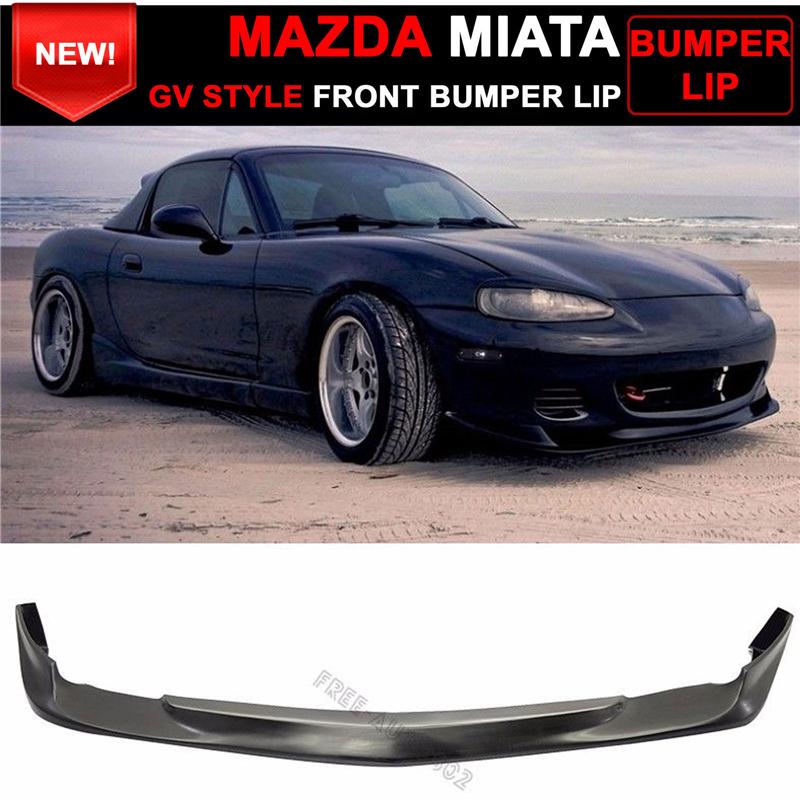 01 05 mazda miata mx 5 coupe convertible gv style front bumper lip spoiler ebay. Black Bedroom Furniture Sets. Home Design Ideas