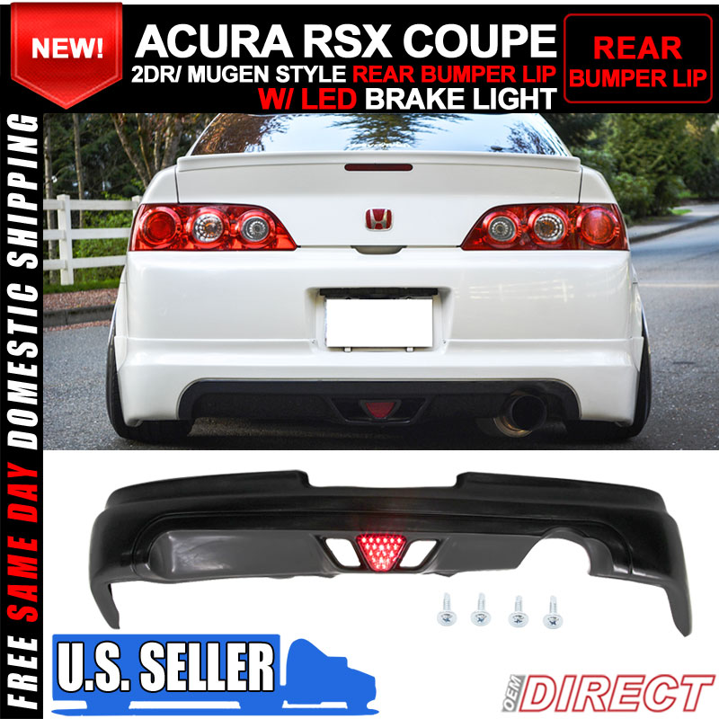 05-06 Acura RSX Coupe 2Dr Mugen Style Rear Lip With Led