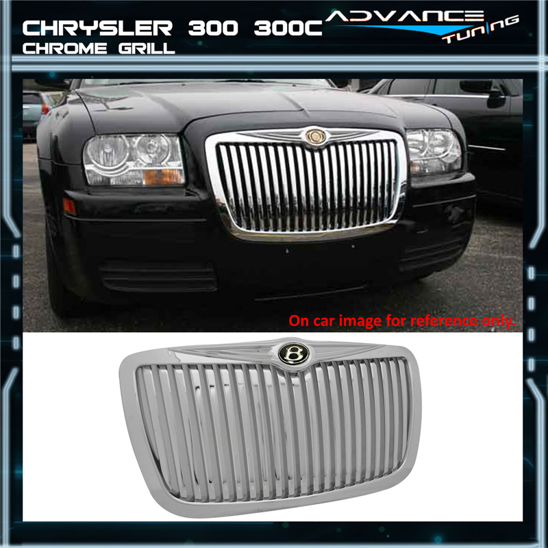 05-10 Chrysler 300 300C SRT8 SRT-8 Chrome Grill Grille New