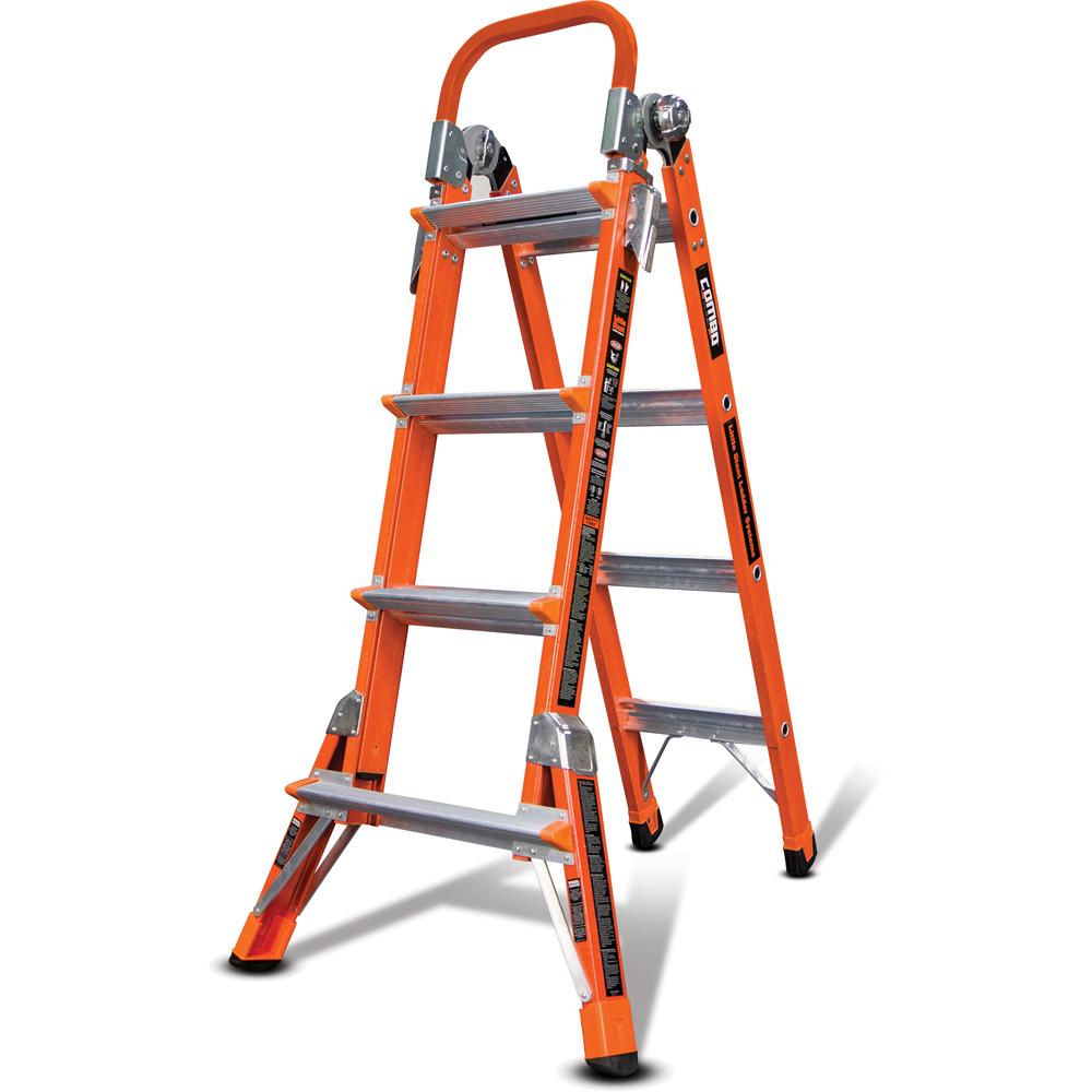 Little Giant 15295-001 Combo Sxe Fiberglass Ladder 5' Typ...