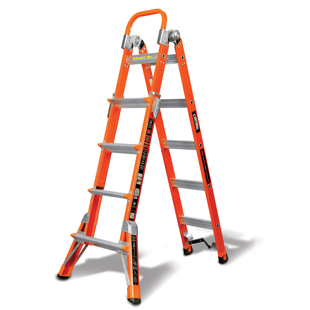 Little Giant 15296-001 Combo Sxe Fiberglass Ladder 6' Typ...