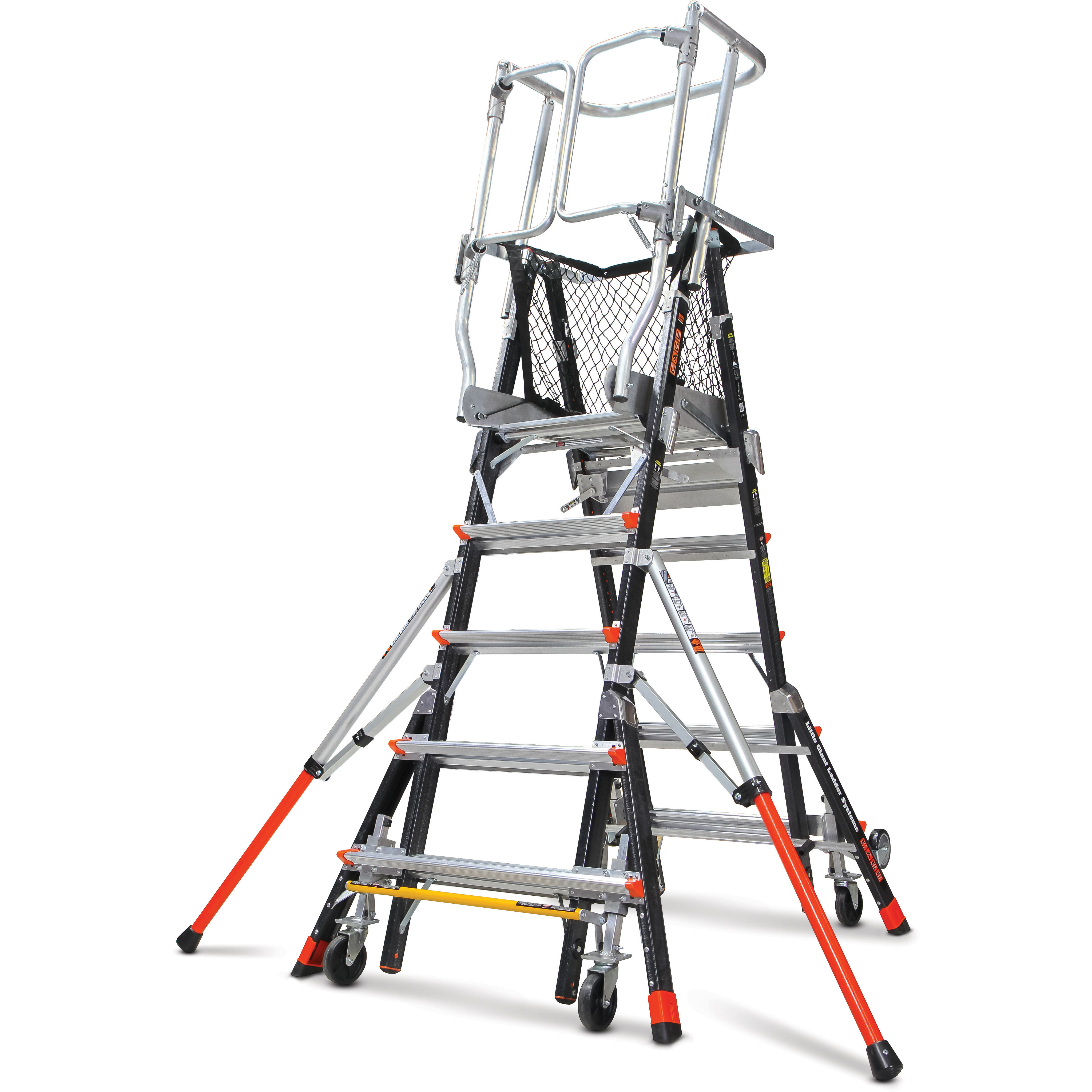 Little Giant 18515 240 Aerial Safety Cage Ext Ladder 8 14