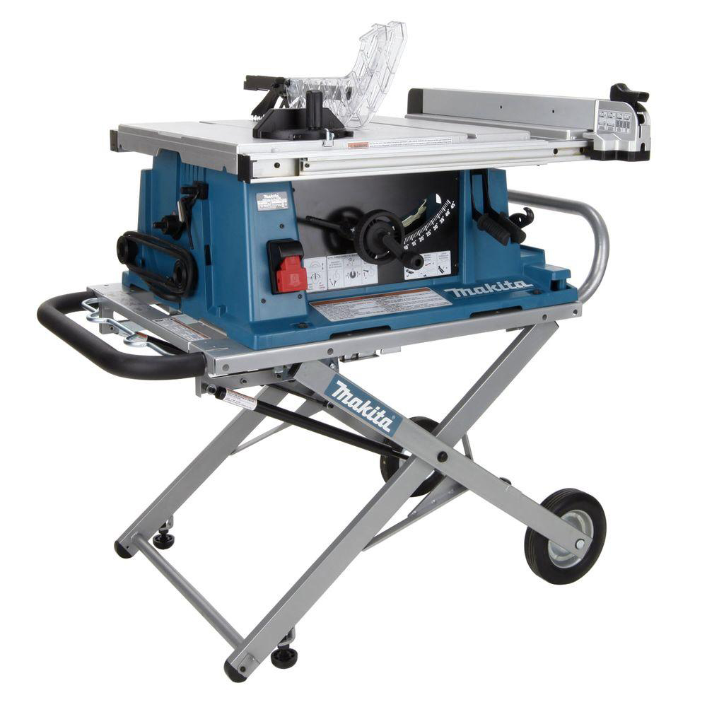 Makita 2705x1 10 In Portable Contractor Table Saw With Table Saw Stand Ebay