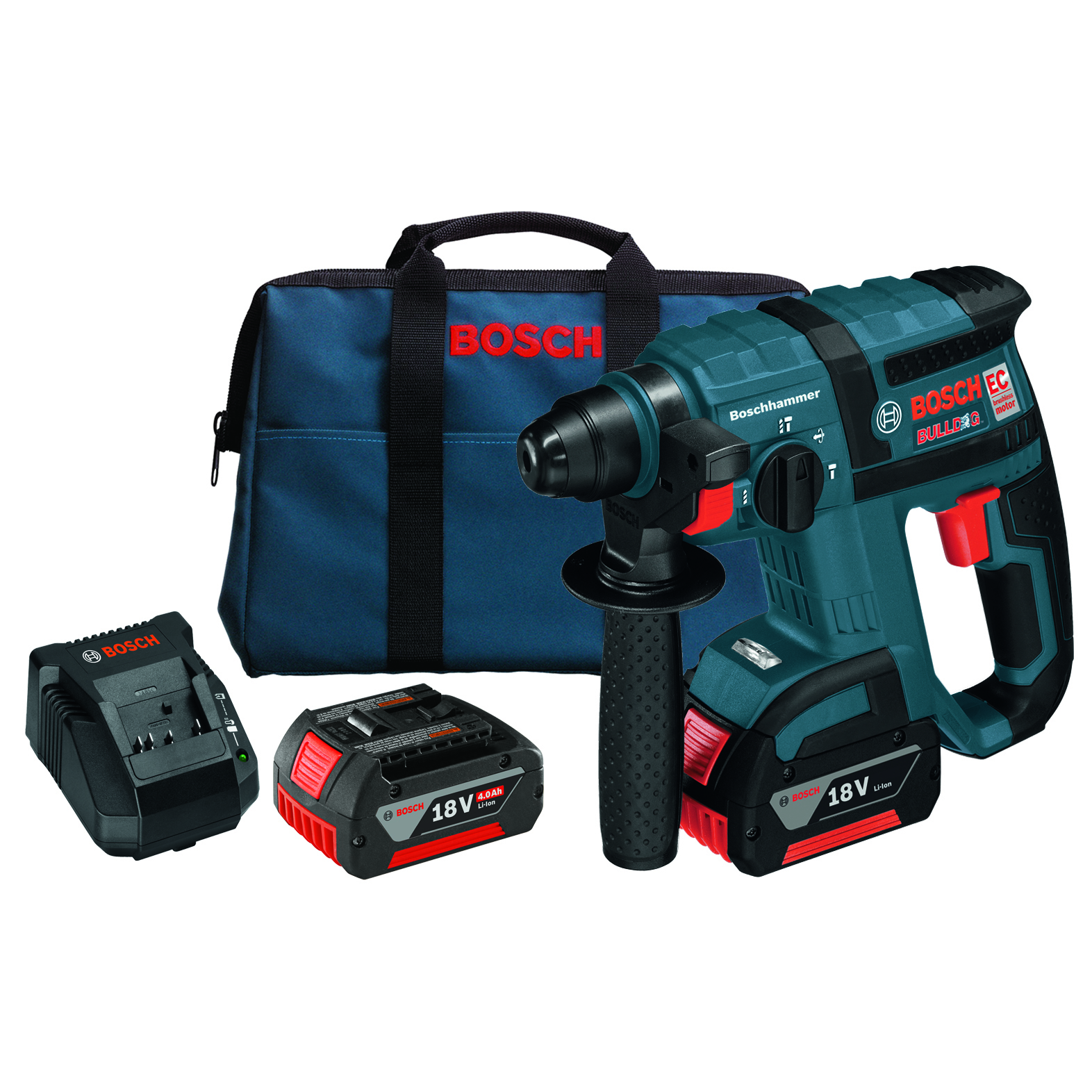 bosch rhh181 01 18 volt 3 4 inch sds plus pneumatic mechanism rotary hammer kit ebay. Black Bedroom Furniture Sets. Home Design Ideas