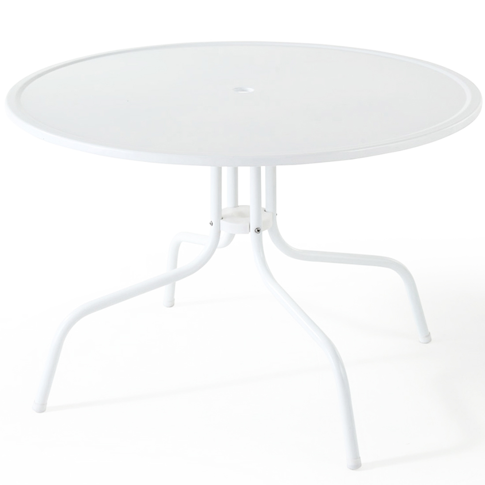 Crosley co1012a wh griffith metal 40 dining table in for White metal dining table