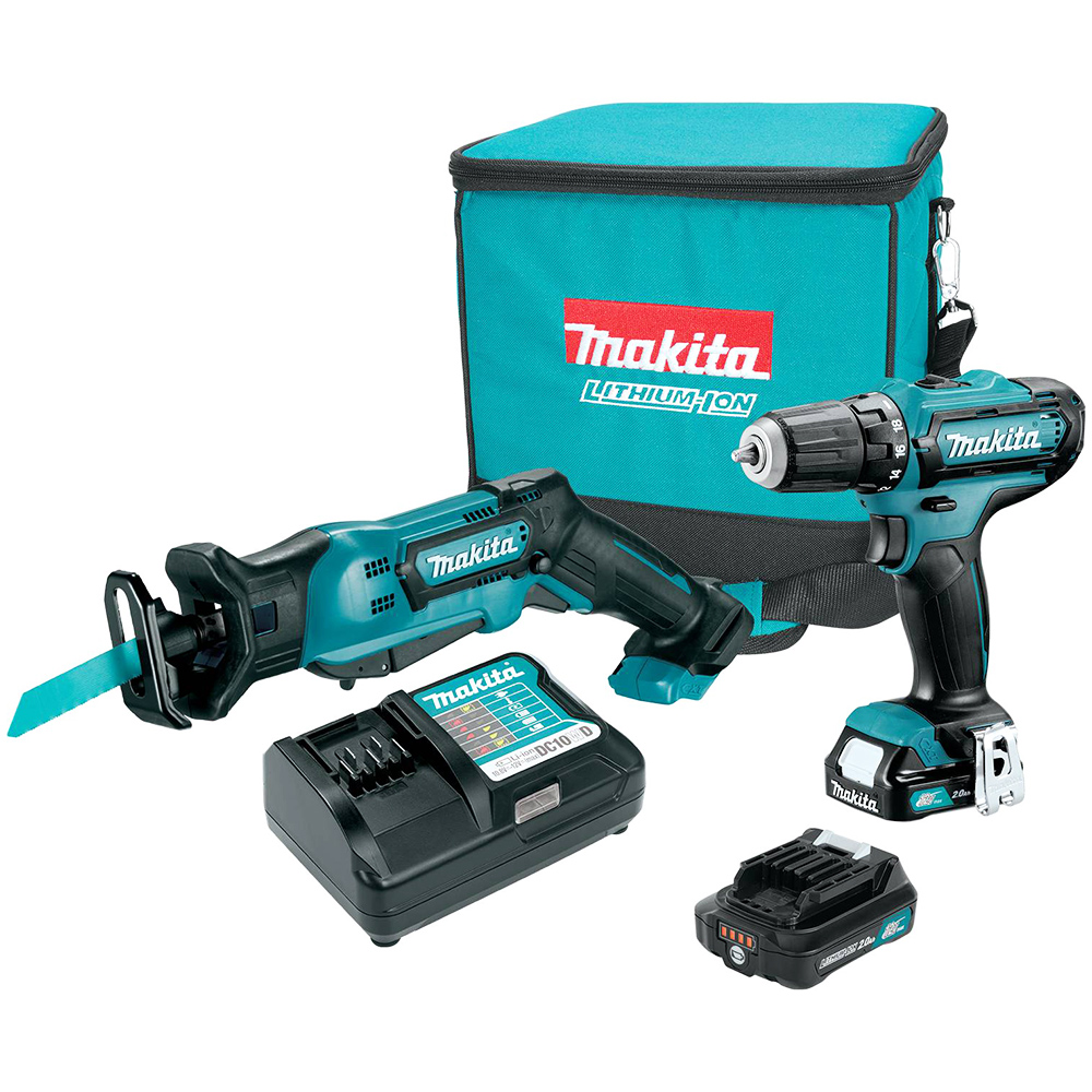 makita ct229r 12 volt lithium ion cordless drill and reciprocating saw combo kit. Black Bedroom Furniture Sets. Home Design Ideas