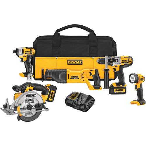 DeWalt DCK590L2R 20V MAX Cordless Lithium-Ion 5-Tool Combo Kit (DCK590L2 Recon) at Sears.com