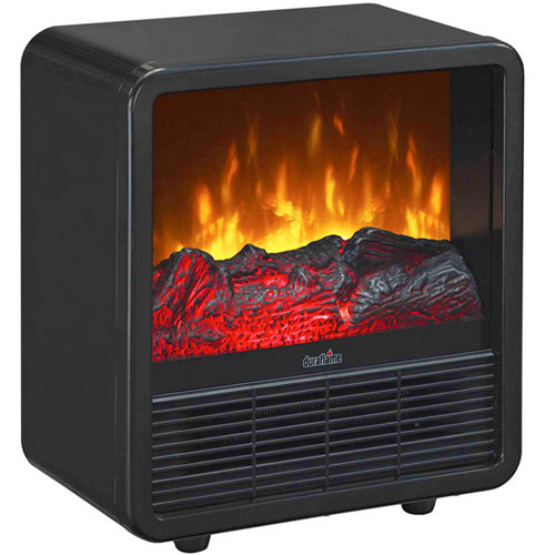 Duraflame-DFS-220-Black-Cube-Electric-LED-Stove-Space-Heater-Warmer