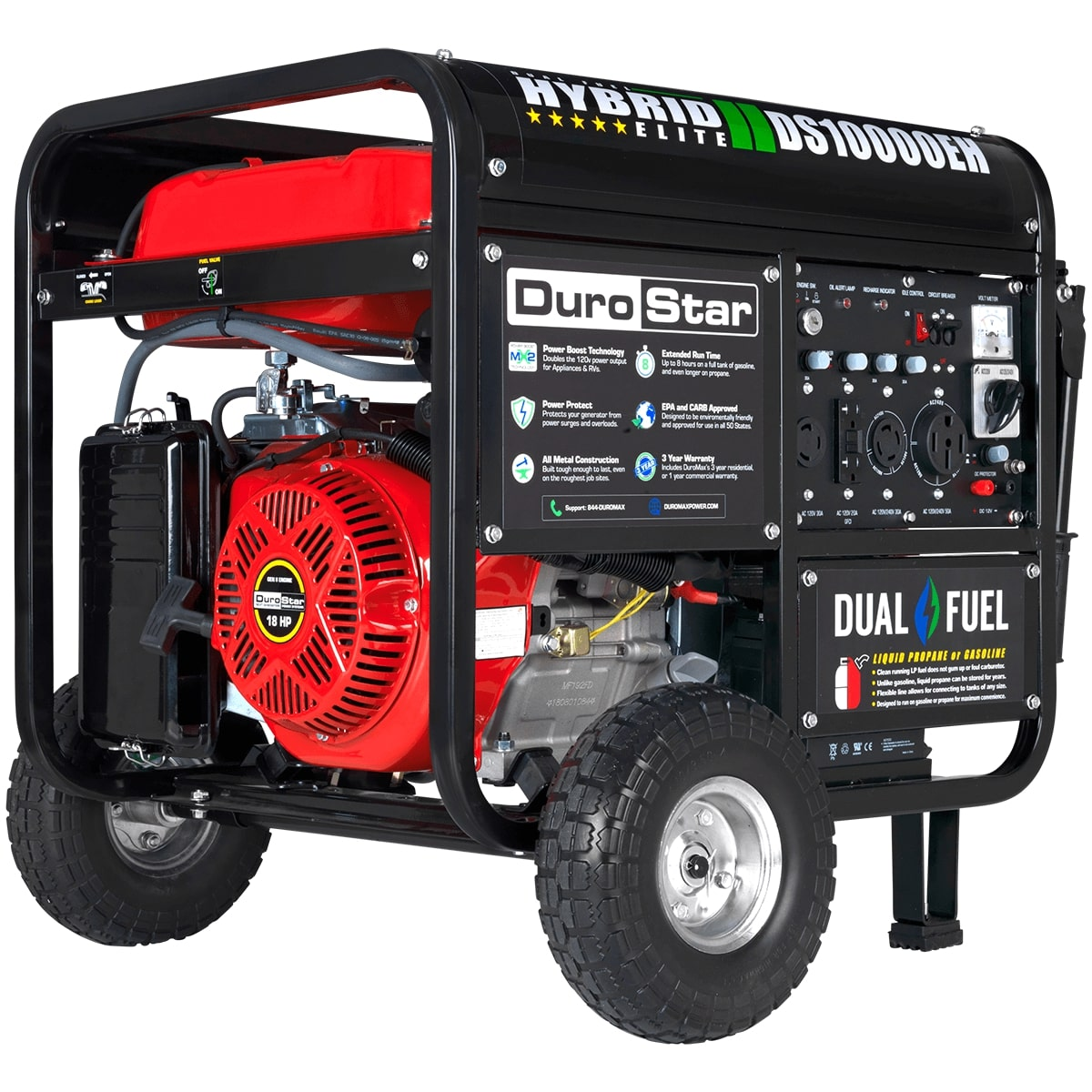 Electric Generator Depot DuroStar DS10000EH 10000 Watt 180 Hp