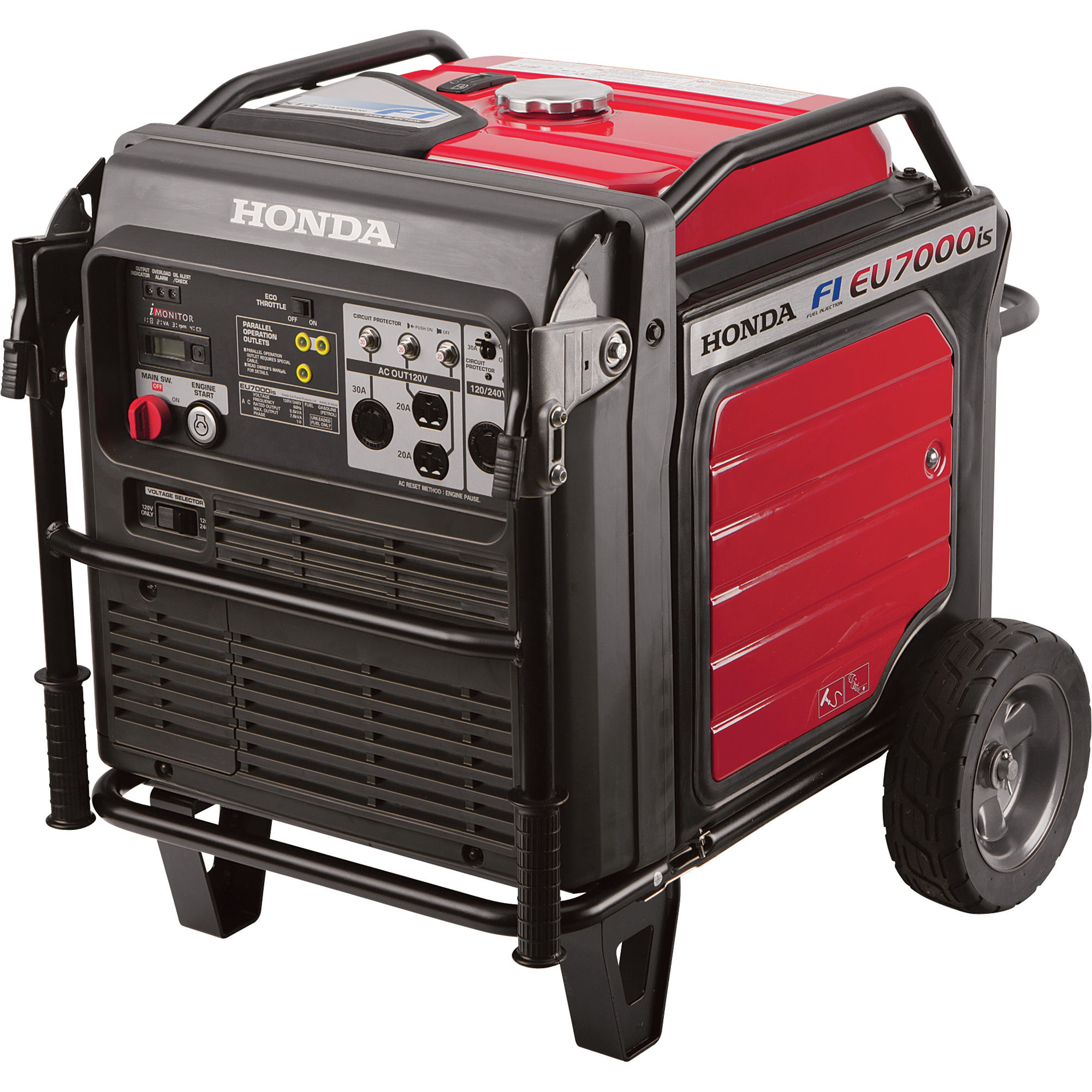 Honda Eu7000is 7000 Watt Portable Quiet Inverter Gas Power