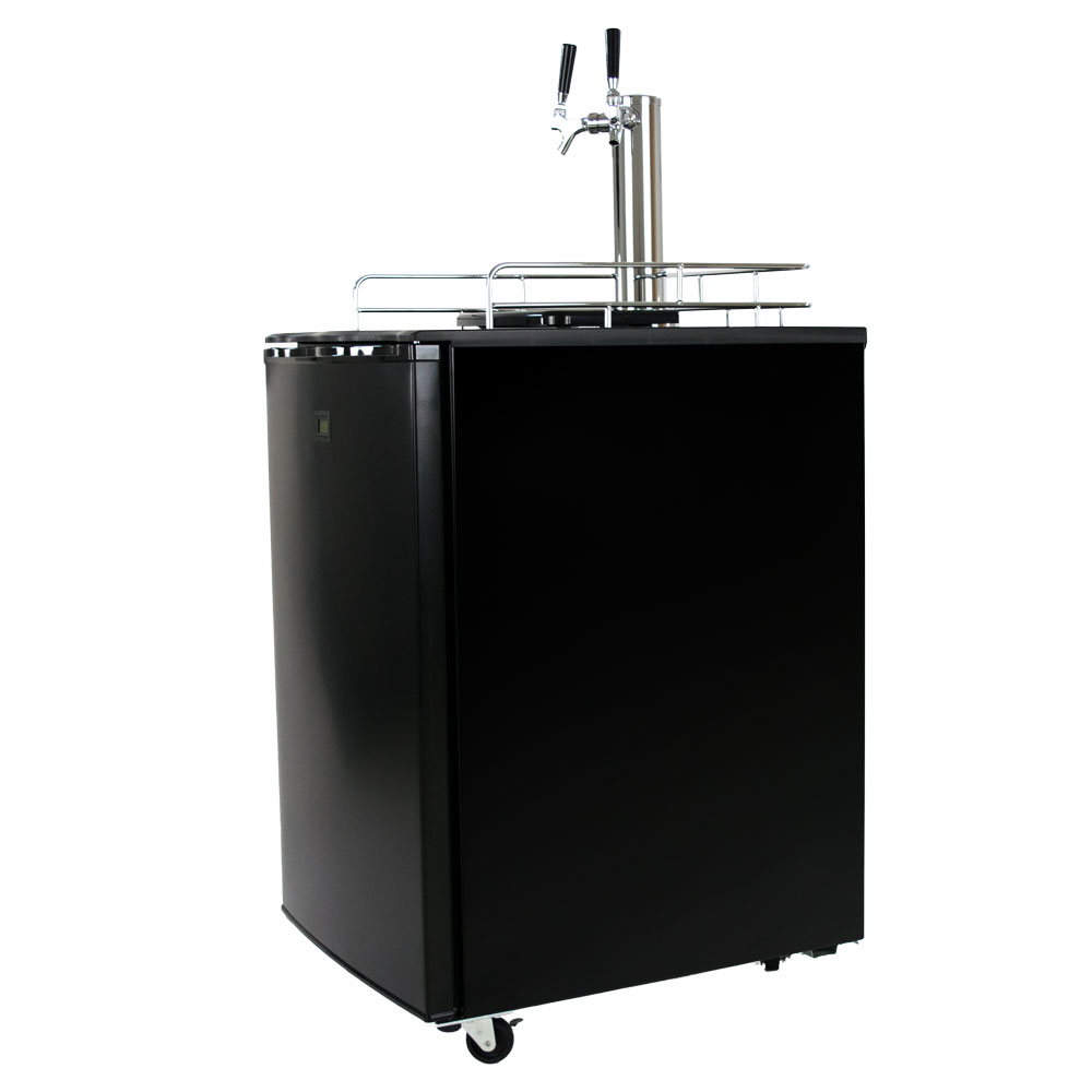 Keggermeister Km5600bk Dual Tap Pour Kegerator Keg Beer Dispenser Kegorator Ebay