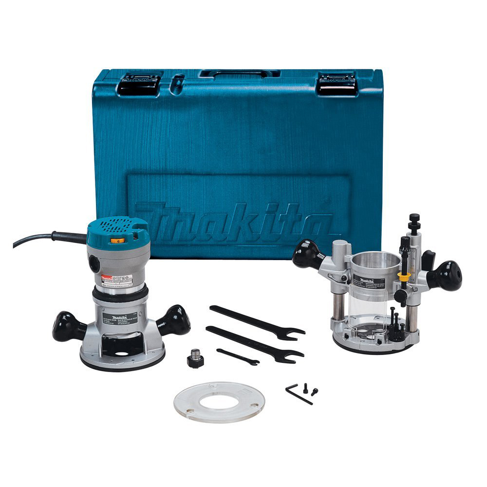 Makita RF1101KIT2 2-1//4-Hp 11.0 Amp 8,000-24,000 Rpm Plunge Router Kit