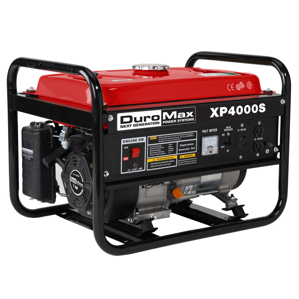 DuroMax XP4000S 4000 Watt 7.0 Hp Air Cooled OHV Gas Engine Portable RV  Generator