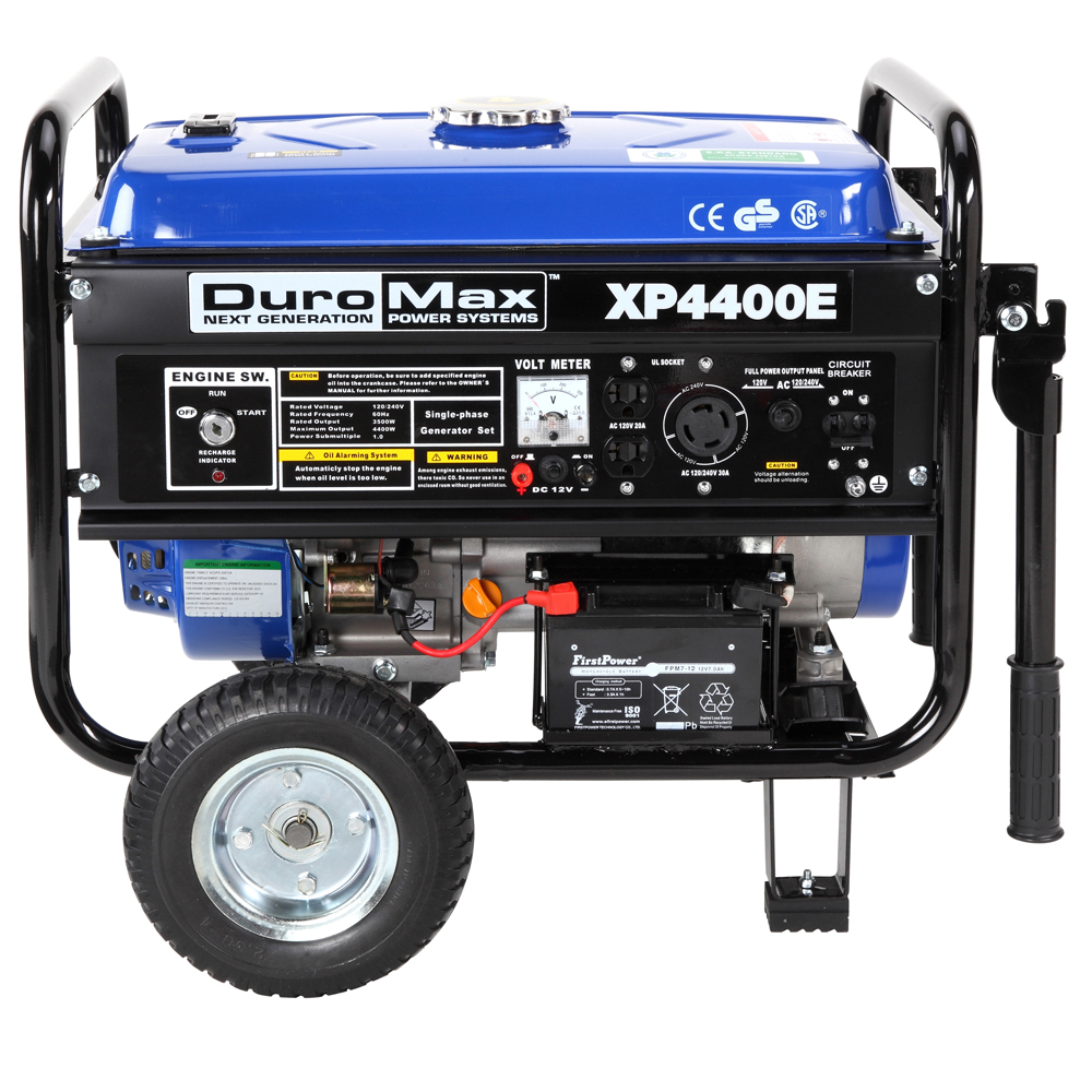 DuroMax 4400 Watt Portable Electric Gas Power ...
