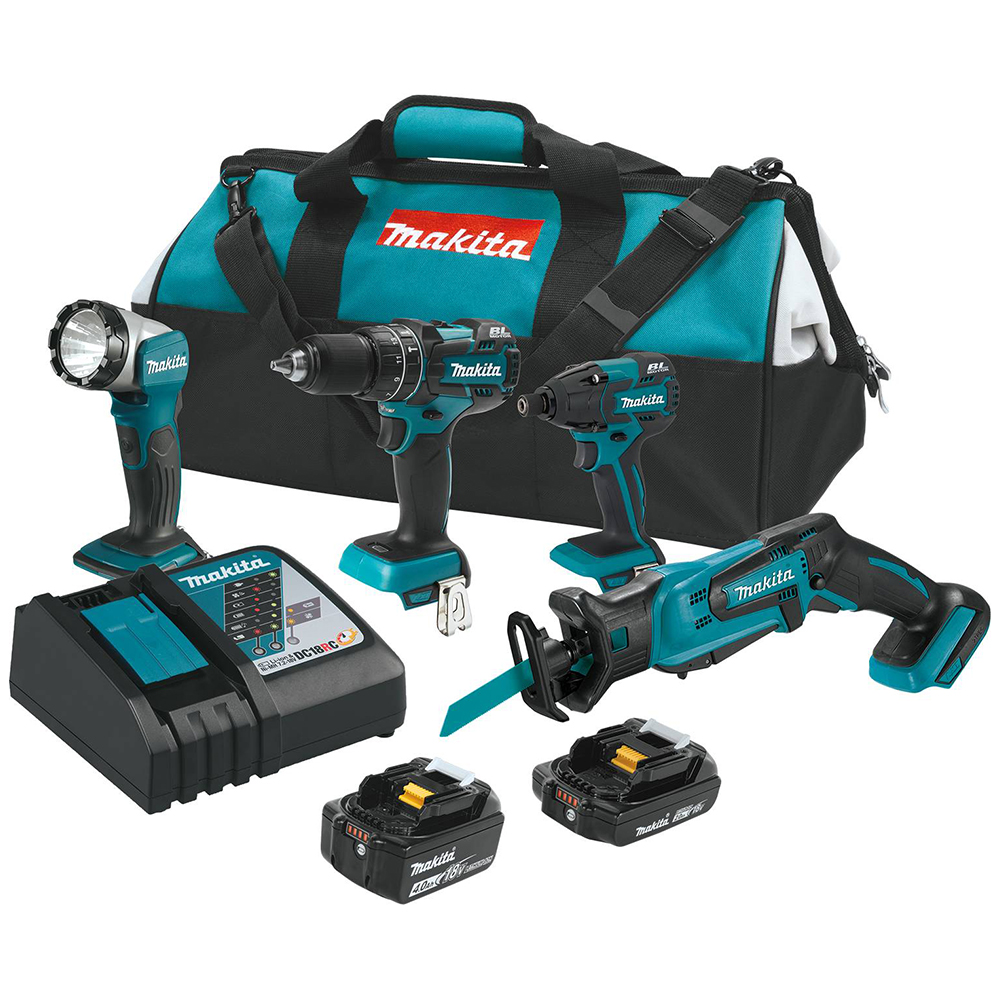makita xt444mr 18v lxt drill impact reciprocating saw led. Black Bedroom Furniture Sets. Home Design Ideas