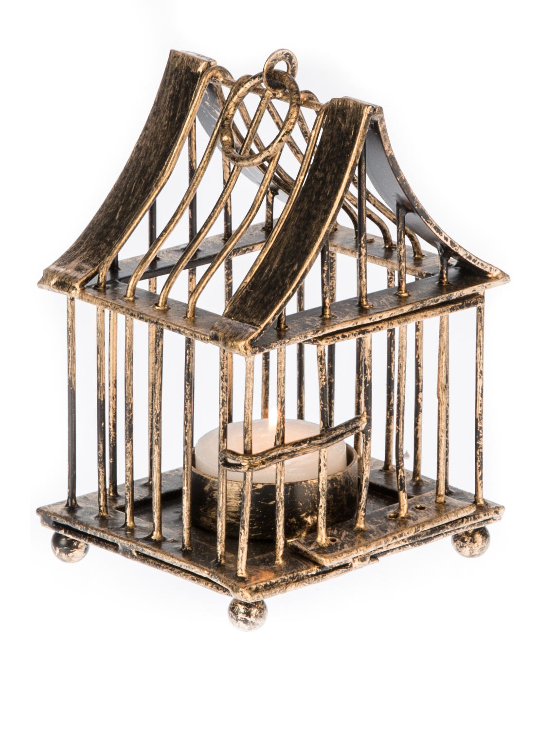 Casa-Uno-Iron-Small-Square-Metal-Bird-Cage-Tealight-candle-HolDer-Home-Decor