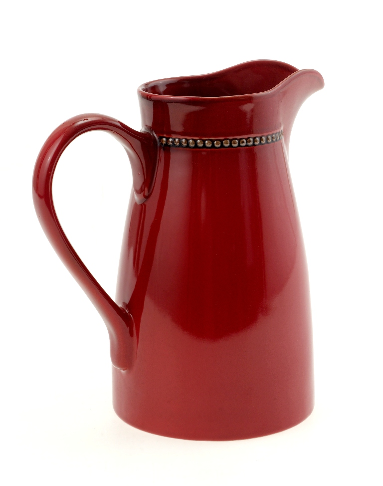Casa uno glazed ceramic water jug moroccan red pitcher for Cocktail x35