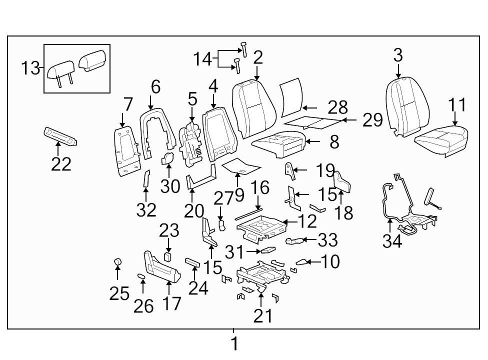Genuine GM Seat Back Panel 20926207