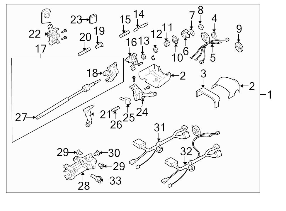 brand new genuine gm oem steering column wiring harness