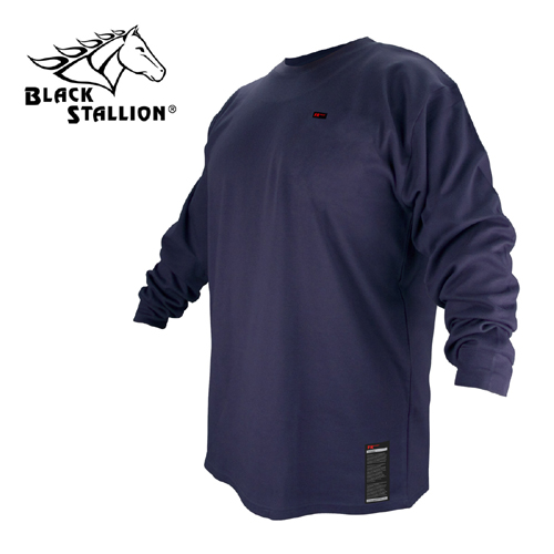 Revco Industries Revco FTL6-NVY Navy Blue Flame Resistant Cotton Long-sleeve T-Shirt, Medium at Sears.com