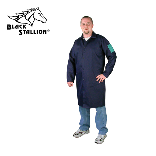 "Revco Industries Revco FN9-42C 9 oz. 42"" Navy Flame Resistant Cotton Shop Coat, Large at Sears.com"