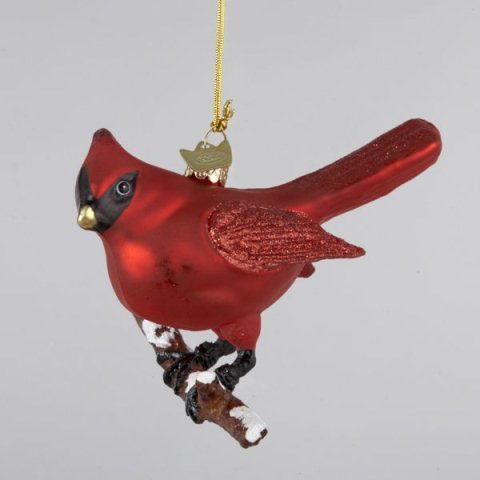 glass cardinal bird christmas tree ornament ebay. Black Bedroom Furniture Sets. Home Design Ideas